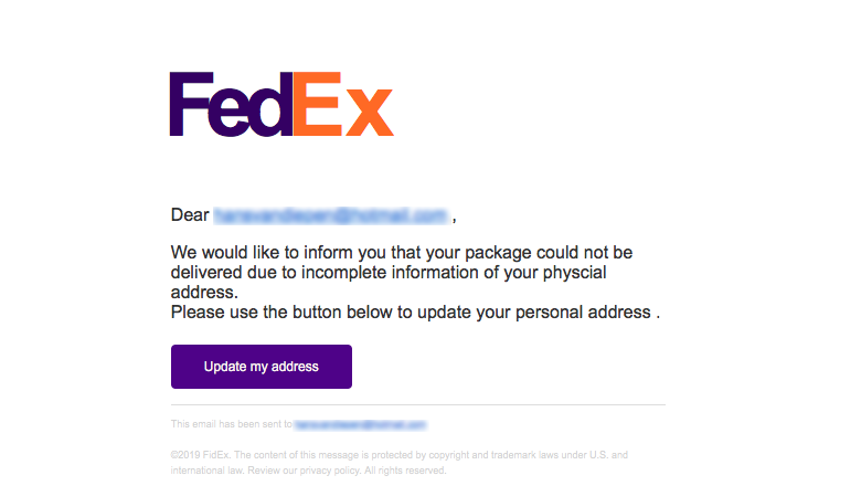 Malware in schadelijke mail van 'FedEx'