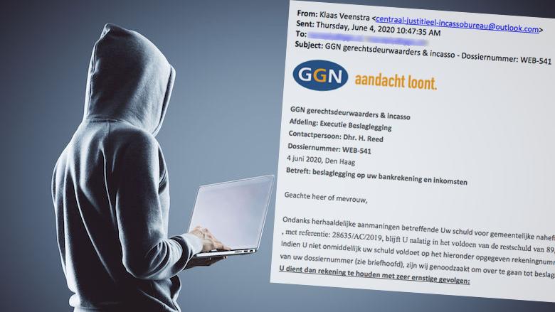Verwijder spookfactuur van GGN Gerechtsdeurwaarders met kenmerk WEB-541