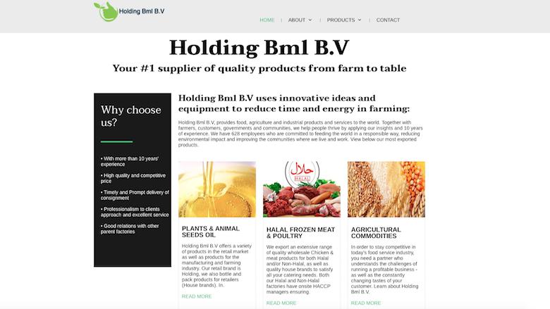 Politie: 'Holdingbml-bv.com' is een malafide webshop'