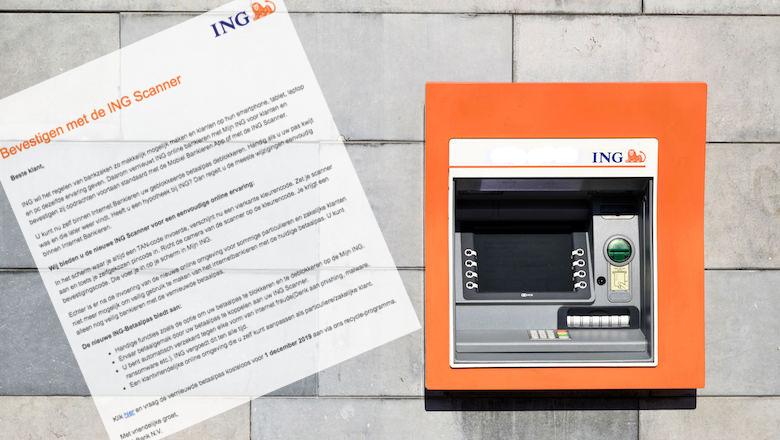 Mailtje van 'ING' over een nieuwe scanner? Niks van waar