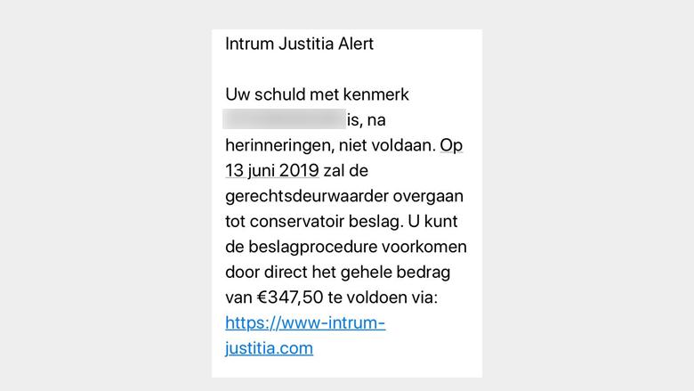 Er worden valse sms'jes van 'Intrum Justitia' rondgestuurd!