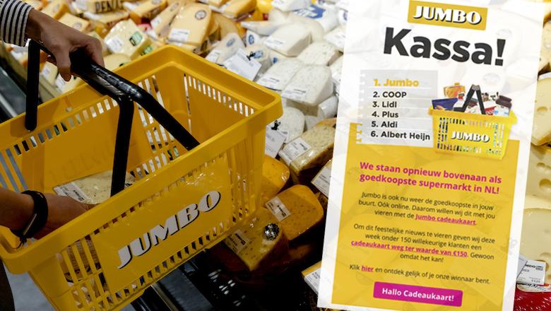 Supermarktketen Jumbo geeft géén cadeaukaart ter waarde van € 150,- weg