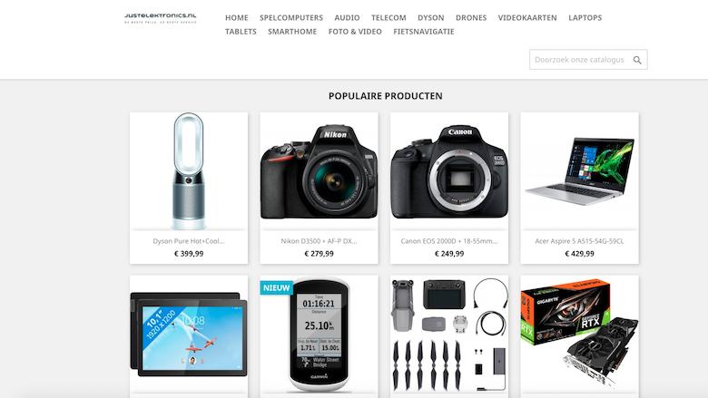 Justelektronics.nl is een malafide webshop
