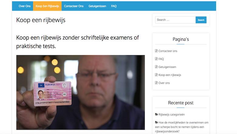 Politie waarschuwt voor foute webshops 'echtrijbewijskantoor.nl' en 'verkrijgenvanrijbewijs.com'