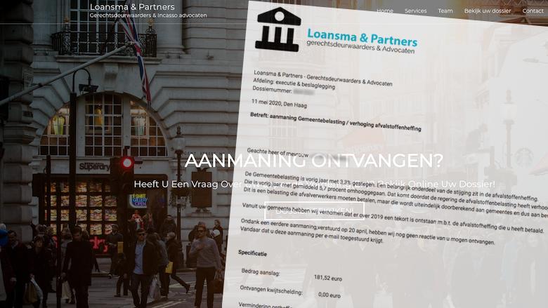 Loansma & Partners Gerechtsdeurwaarders verstuurt spookfacturen namens verschillende gemeentes