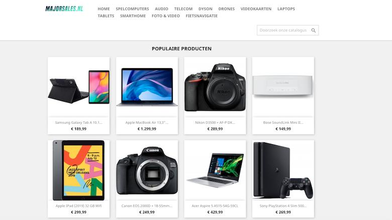 Achter de webshop Majorsales.nl zitten oplichters