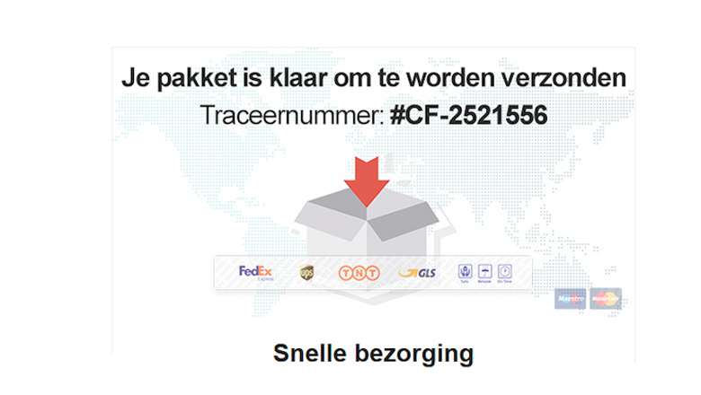 Mail met 'verzendbevestiging' bevat malware