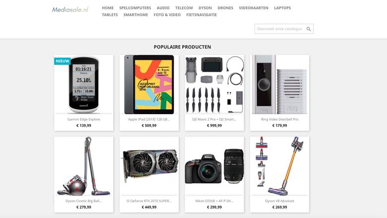 Kijk uit voor de webshop Mediasale.nl