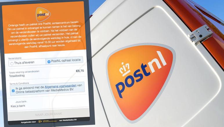 Oplichters sturen valse 'PostNL'-verzendbevestigingen om aan bankgegevens te komen