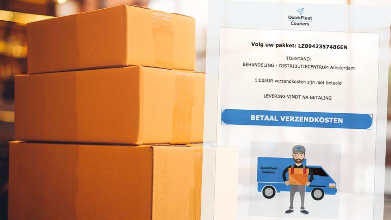 Mail van QuickFleet Couriers met pakketnummer LZ8942357486EN? Creditcardfraude!
