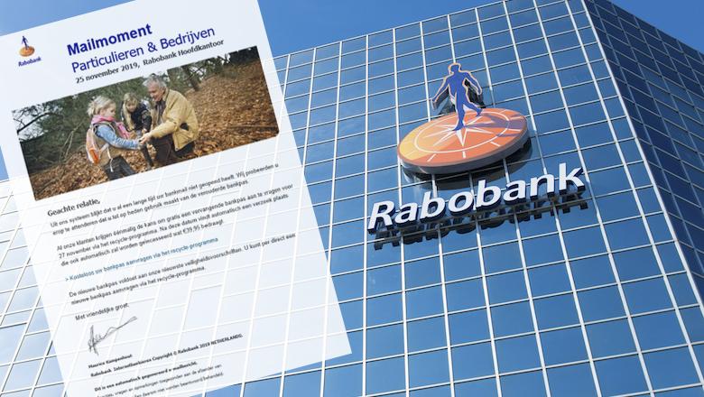 Mail 'Rabobank' over verouderde bankpas is niet echt