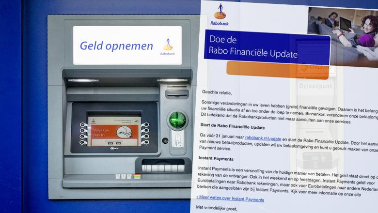Negeer mail van 'Rabobank' over de Rabo Financiële Update