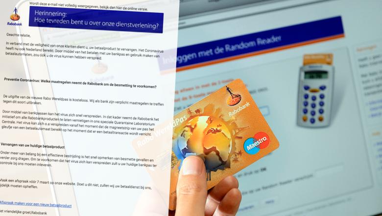 Mail van 'Rabobank' over verspreiding coronavirus via pinpas is vals