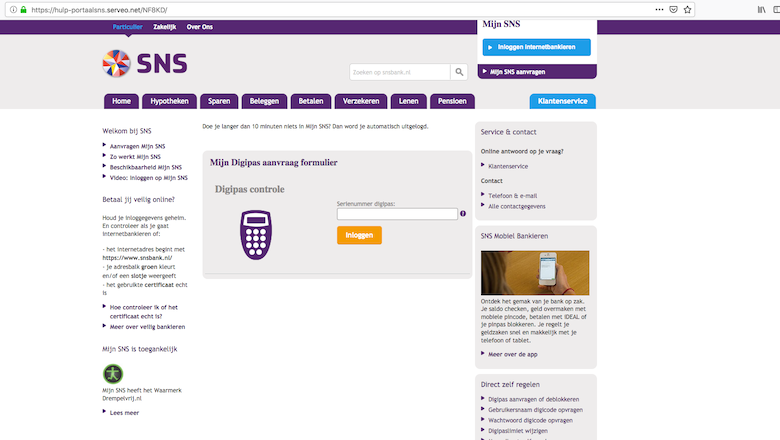 Waarschuwing voor vernuftige phishingmail 'SNS Bank'