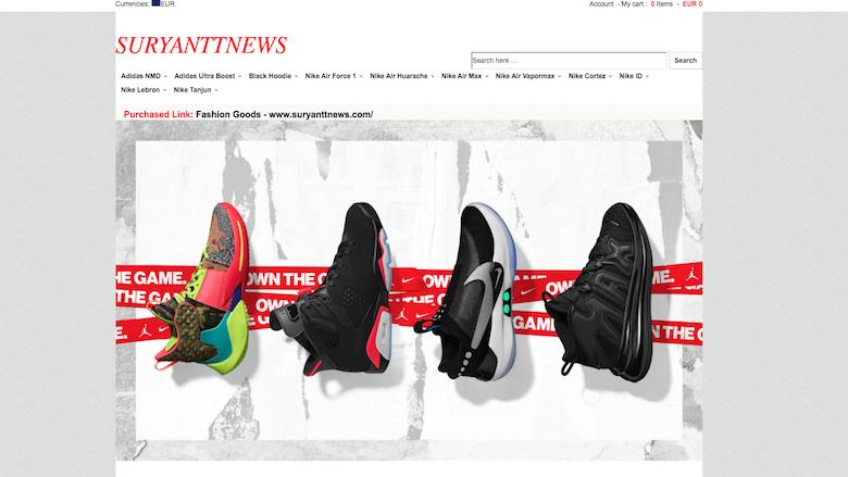 Politie: 'Koop niet bij Suryanttnews.com'