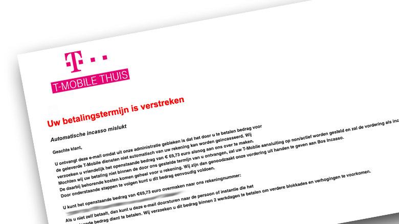 'Herinneringsfactuur' zogenaamd van T-Mobile: betaal niet!