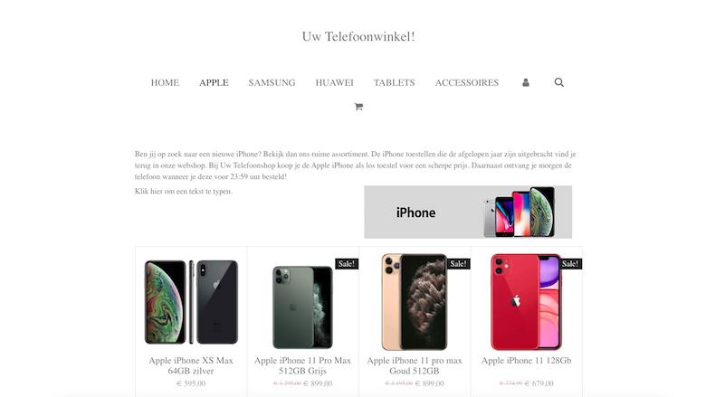 Politie: 'Uwtelefoonshop.nl is een malafide webshop'