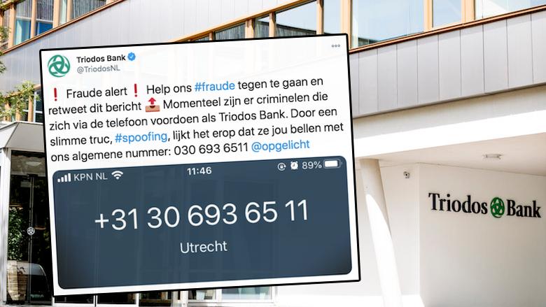 Triodos Bank waarschuwt voor telefonische oplichting: 'Ze bellen met ons algemene nummer'