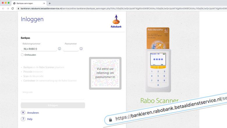 Let op: valse e-mail van 'Rabobank' verstuurd