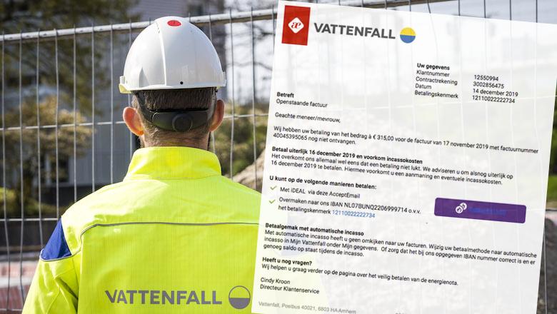 Trap niet in nieuwe spookfactuur van 'Vattenfall'