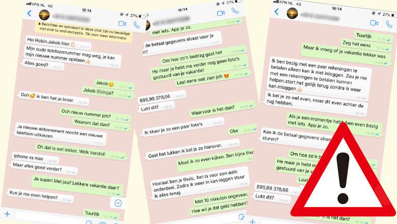 Waarschuwing: weer WhatsApp-fraude door 'familielid'