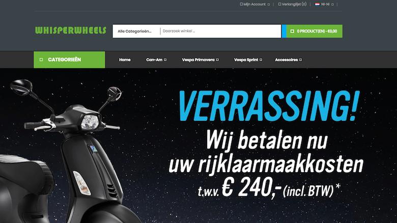 Politie waarschuwt voor Whisperwheels.nl