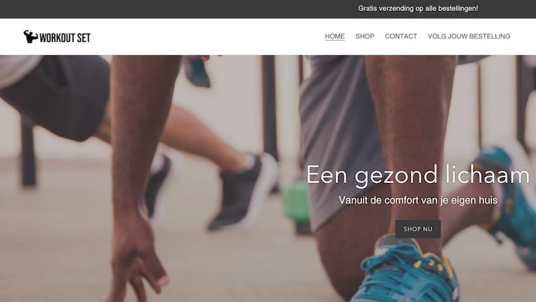 Politie waarschuwt voor de webshop Theworkoutset.nl