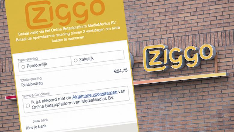 Ben jij klant van Ziggo? Kijk uit: oplichters willen jouw bankrekening leegtrekken