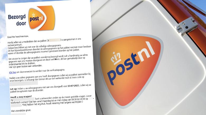 Nepmail 'PostNL': pas op voor nieuw bericht van oplichters over onjuiste adresgegevens