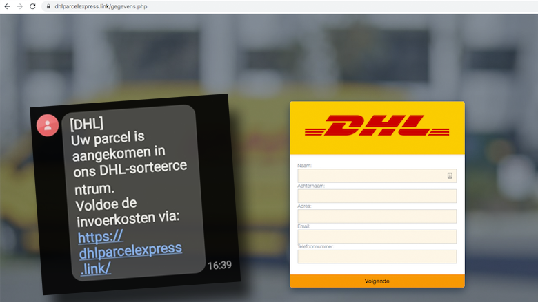 Sms van 'DHL' is oplichting: 'Uw pakket is aangekomen in ons DHL-sorteercentrum. Voldoe de invoerkosten'