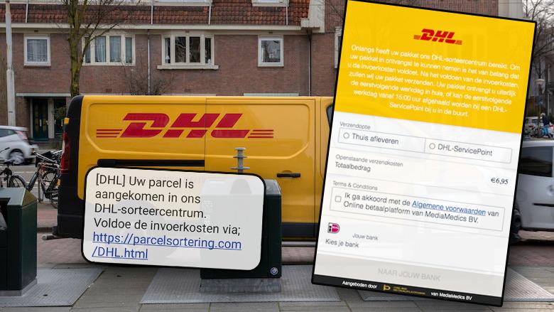 Wéér phishingcampagne namens 'DHL' door oplichters: 'Voldoe de invoerkosten voor uw pakket'