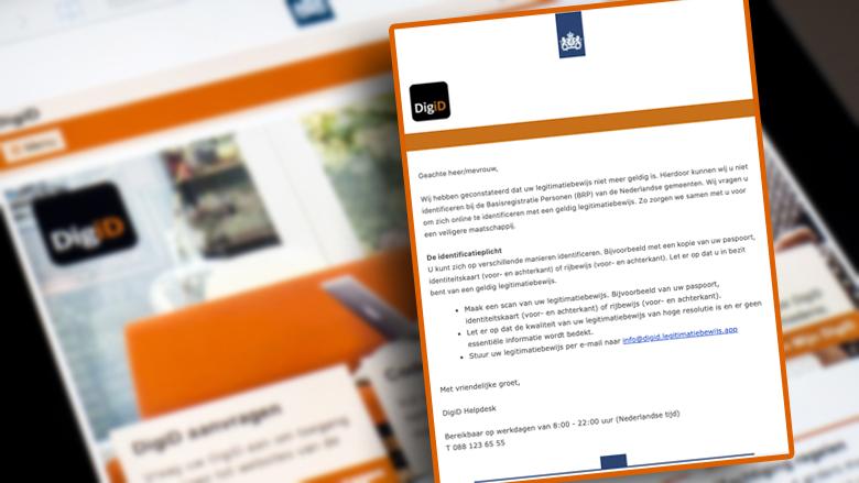 Nieuwe oplichtingstruc: identiteitsfraude na valse 'DigiD'-mail