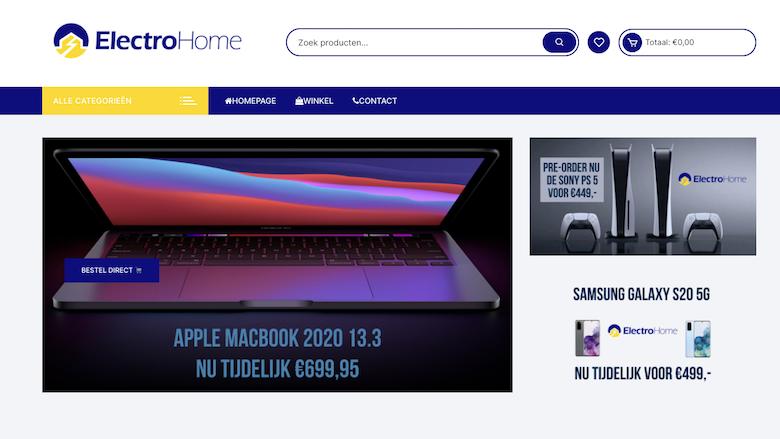 Politie waarschuwt voor onbetrouwbare webshop Electro-home.nl
