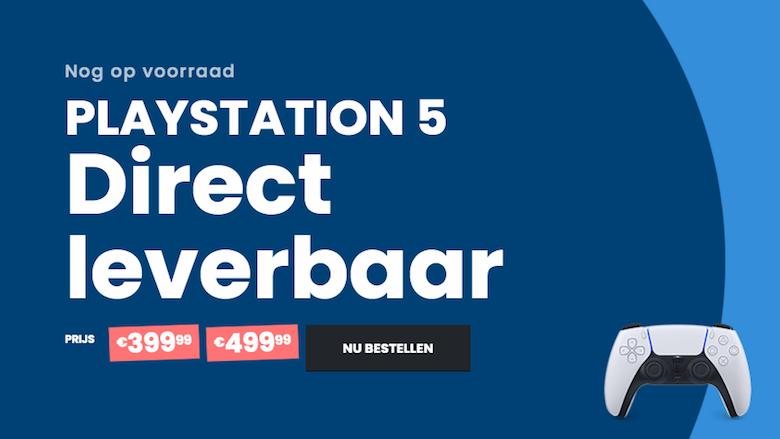 De webshop biedt de PlayStation 5 aan uit eigen voorraad