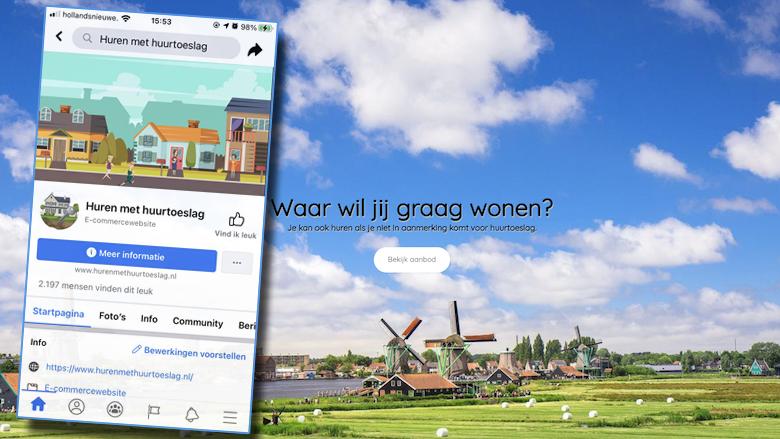 Wil jij een huurwoning huren met huurtoeslag? Oplichters bieden nepwoningen aan op Hurenmethuurtoeslag.nl