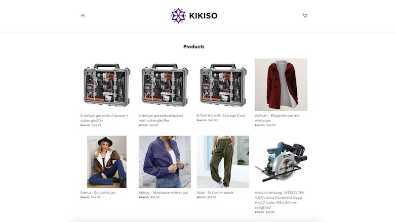 Politie: 'Kikiso.shop is een onbetrouwbare webshop en levert geen bestellingen'