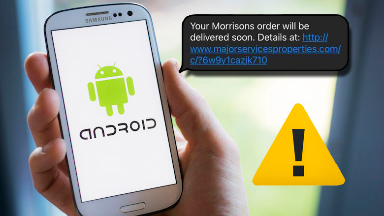 Gevaarlijke en schadelijke Android-malware in sms'jes met verzendbevestigingen van koeriersdiensten