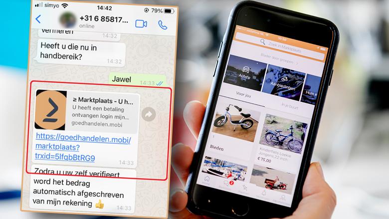 Nog een Marktplaats-oplichtingstruc: oplichters vragen via WhatsApp om een ontvangen betaling te bevestigen
