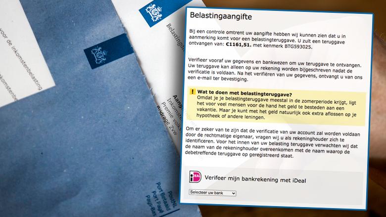 Oplichters sturen valse mails namens MijnOverheid: 'U zult een belastingteruggave ontvangen van € 1161,51'