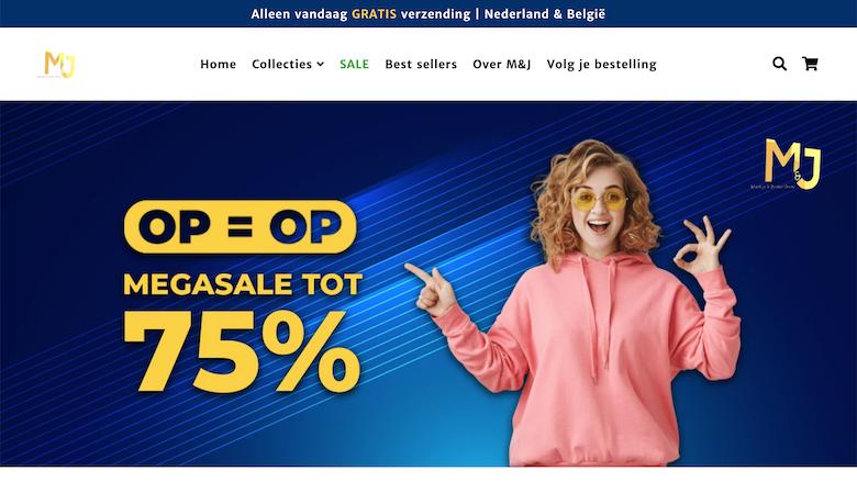 'Vertrouw mj-shop.nl en mj-store.nl niet', waarschuwt de politie