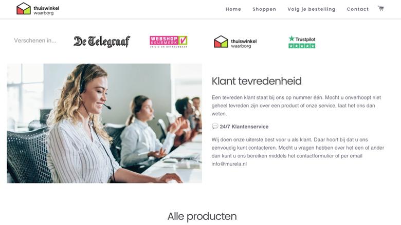 Politie: 'Murela.nl is een onbetrouwbare webshop'