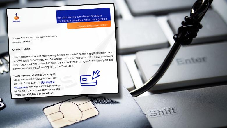 Heb jij een valse mail ontvangen over een nieuwe betaalpas met een werkende link?