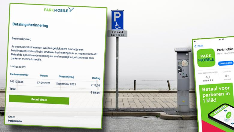 Nieuwe oplichtingstruc: phishingmails namens parkeer-app 'Parkmobile' over betalingsachterstanden