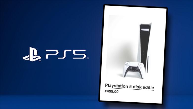 Politie waarschuwt: 'Koop geen PlayStation 5 bij de webshop Playstation5direct.nl'