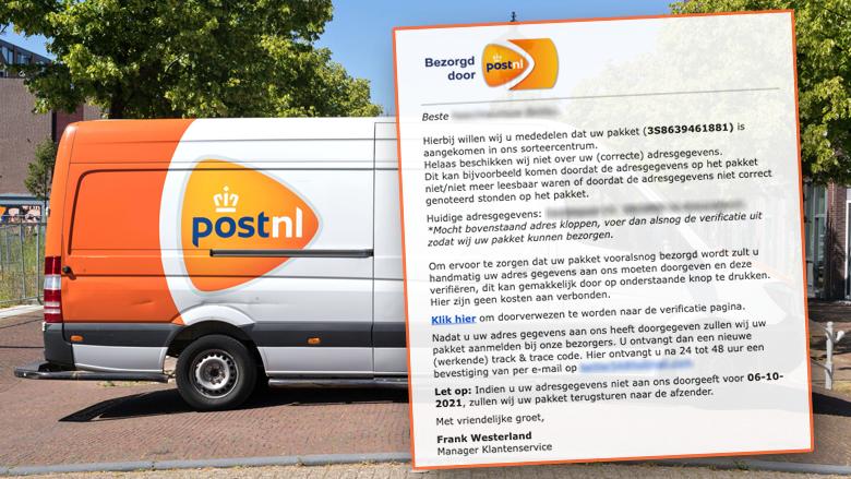 Phishingmail van 'PostNL' bevat jouw volledige naam- en adresgegevens