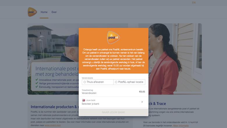 Overtuigende oplichting namens 'PostNL': Sms verwijst naar levensechte phishingsite