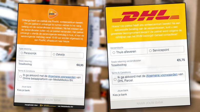 Phishingcampagne namens DHL én PostNL: oplichters sturen valse mails over verzendkosten voor pakketjes
