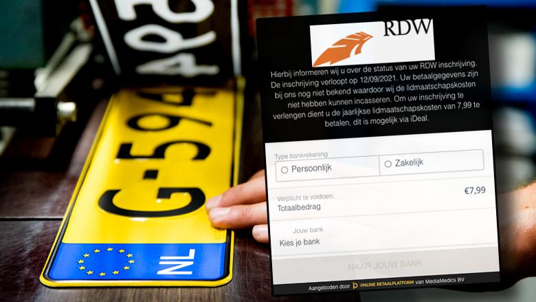 Nieuwe oplichtingstruc, phishingmails namens de RDW: 'Uw inschrijving verloopt binnenkort'