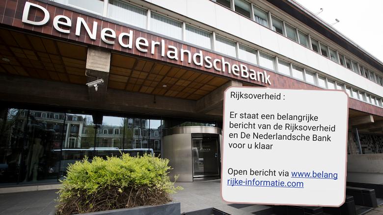 Sms van de Rijksoverheid én De Nederlandsche Bank: is dat oplichting?