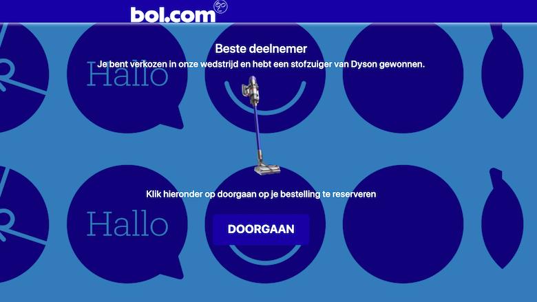 Valse 'Bol.com'-website van oplichters